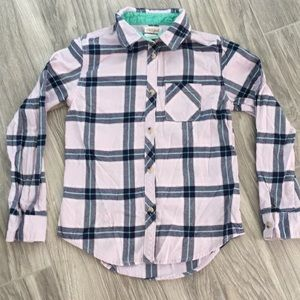 🌺girls Cat and Jack flannel shirt size Large🌺
